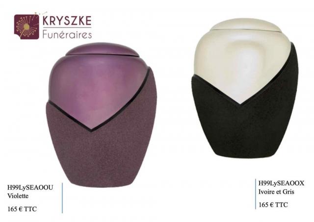 Urnes Ivoire/noir et Violette