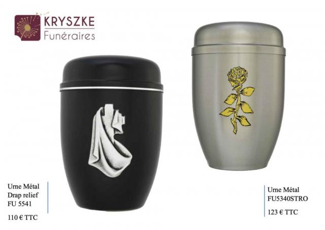 Urnes métal avec motifs