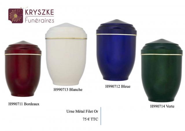 Urnes simple filet or